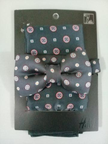 Gravata borboleta e lenço importados