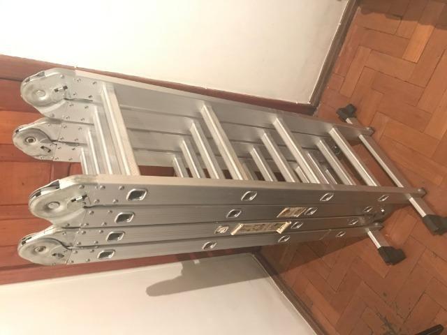 Escada em Alumínio com 16 degraus