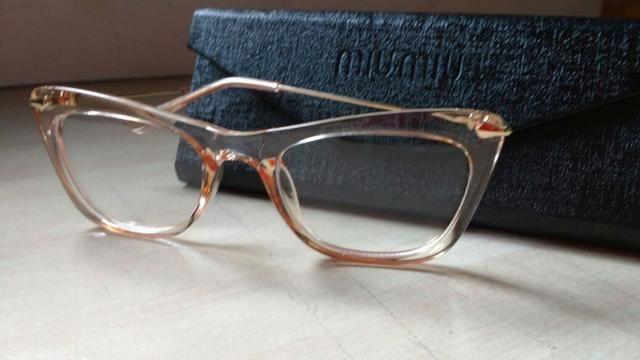 Armação óculos feminino transparente da miumiu - Bijouterias ... e9c10b98ed