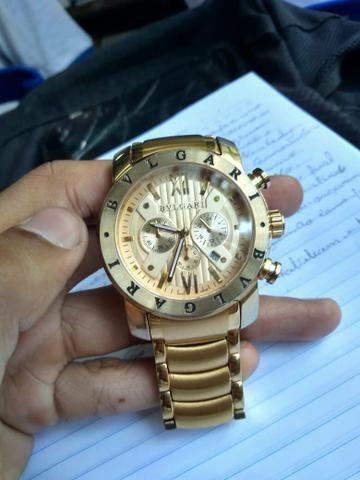 Relógio bvlgari iron men gold - Bijouterias, relógios e acessórios ... 1044a981fb