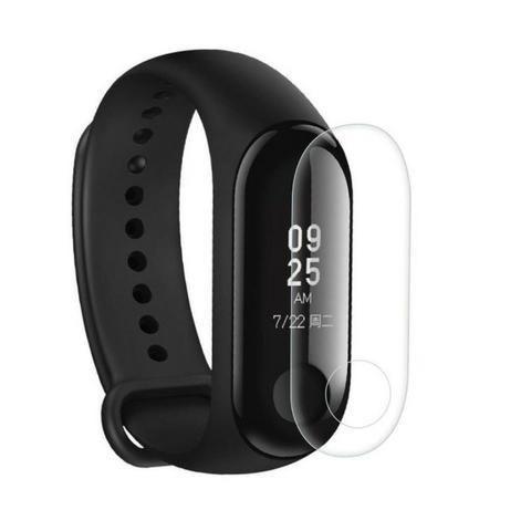 Película de Gel Protetora Relógio Xiaomi Mi Band 3 Mi Band 4 Smartwatch de Facil Aplicação - Foto 3