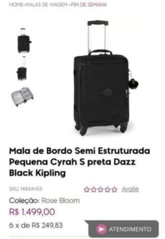 cc82e684f Mala de mão Kipling Modelo Cyrah - Bolsas, malas e mochilas ...