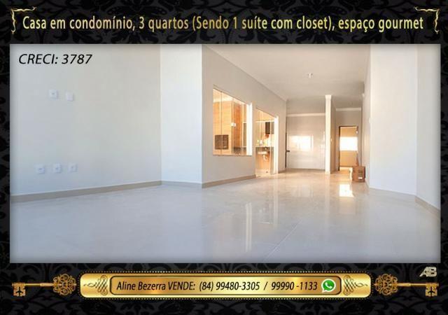 Casa no condomínio central park, suíte com closet, espaço gourmet, sombra confira - Foto 2