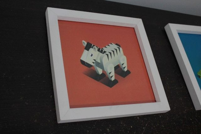 Conjunto Quadro Infantil / em MDF Branco 38 cm x 38 cm - Foto 2
