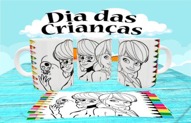 Canecas personalizada para colorir - Foto 3