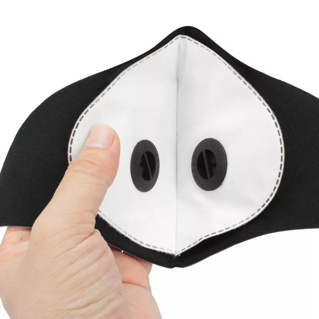 Mascara anti poluição virus com válvula ciclismo bike bicicleta caminhada corrida esportes - Foto 5