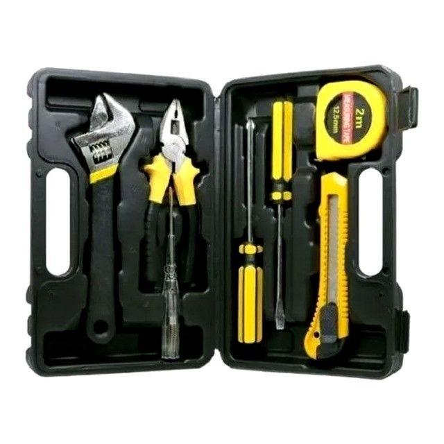 Kit de ferramentas com 7 peças indicado para uso doméstico e pequenos reparos - Foto 3