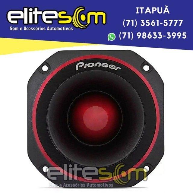 Super Tweeter Pioneer Ts-b400pro 200WRms 4 Ohms instalado na Elite Som - Foto 5