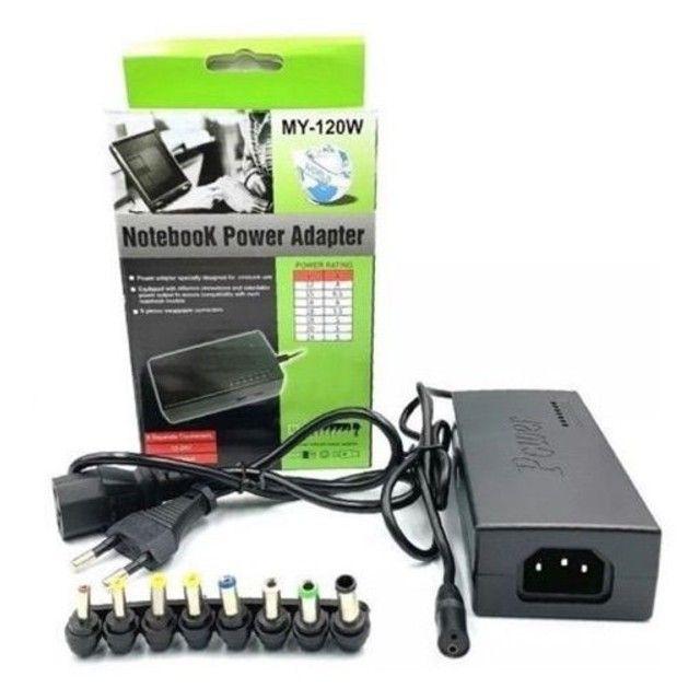 Fonte Carregador Universal Para Notebook 120w com 8 conectores