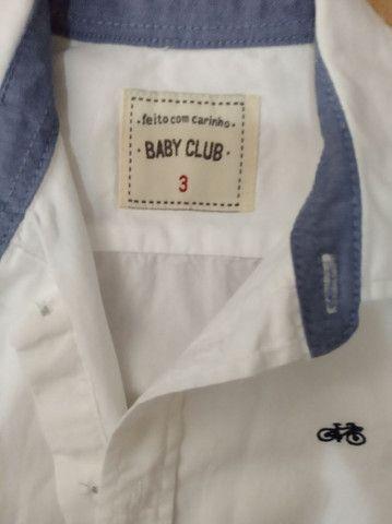 Trio de camisas manga longa infantil masculino - Foto 2
