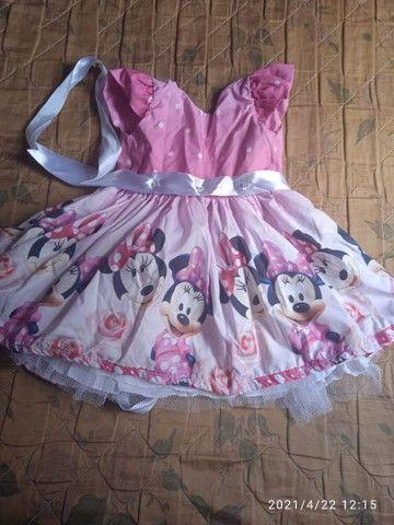 Vestido do Tema da Minnie baby rosa  - Foto 4