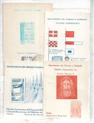 olx0046 lote 370 selos e folhinhas postais do brasil ver fotos - Foto 2