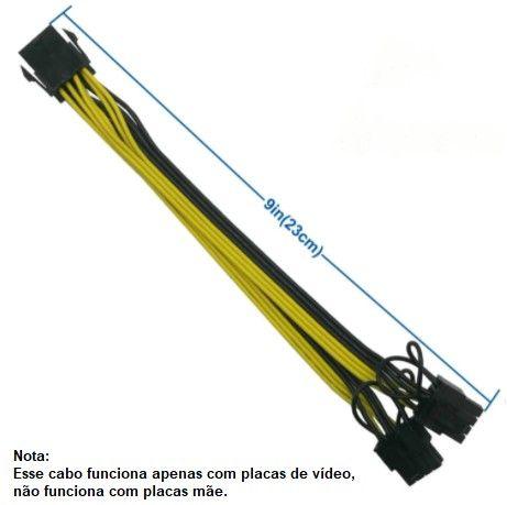 Londrina | Cabo conversor PCIe 8 pinos para duplo 8 pinos (6 + 2) PCIe - Foto 4