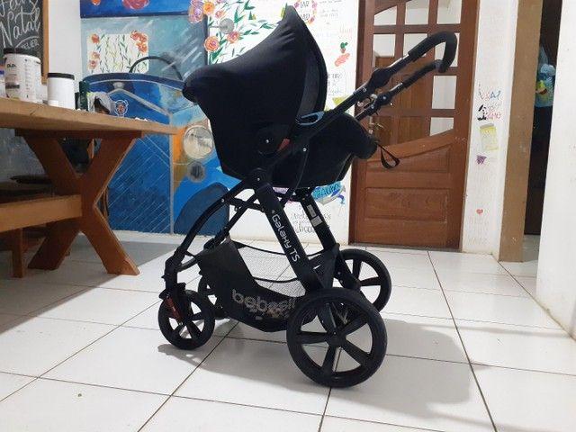 Carrinho de bebê Galaxy TS SEMI NOVO UNISSEX  - Foto 4