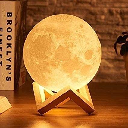 Dê a Lua ao Seu Crush Luminária Lua Cheia Decoração de Cabeceira - Foto 3