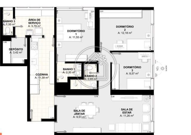 Apartamento à venda com 3 dormitórios em Botafogo, Rio de janeiro cod:901871 - Foto 17