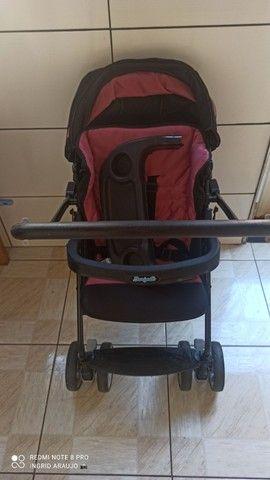 Carrinho de bebê Burigotto rosa Carrinho+bebê conforto