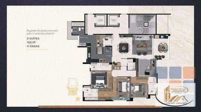 Apartamento com 4 dormitórios à venda, 150 m² por R$ 2.196.000,00 - Serra - Belo Horizonte - Foto 4