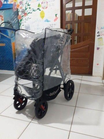 Carrinho de bebê Galaxy TS SEMI NOVO UNISSEX  - Foto 3