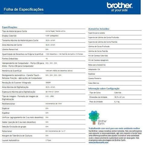 PLOTTER SCANNER BROTHER ScanNCut CM650W, máquina de recorte - Foto 3