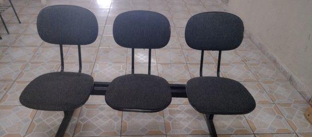 Kit de 3 cadeiras para escritório - Foto 2