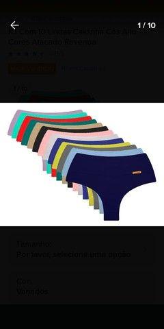 Kit com 10 calcinhas cores diversas