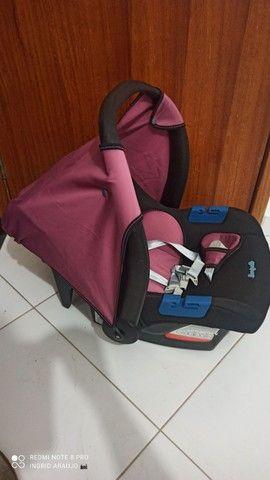 Carrinho de bebê Burigotto rosa Carrinho+bebê conforto - Foto 3