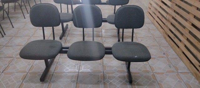Kit de 3 cadeiras para escritório - Foto 4