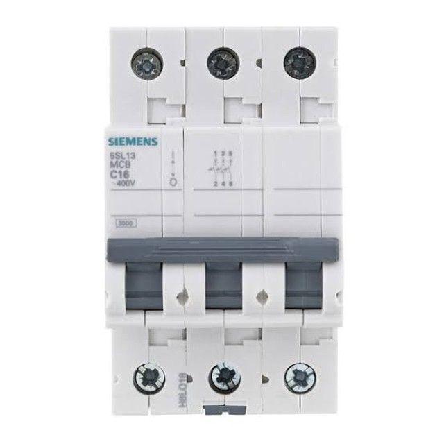 Disjuntor Trifasico 5SL13 MCB C16 400v Siemens