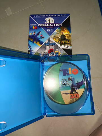 DVD Blu-ray 3D Rio, Os Smurfs e As Aventuras de Tintim - Foto 2