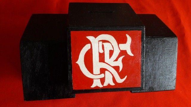 Cofres De Times Flamengo e Vasco de Madeira - Foto 4