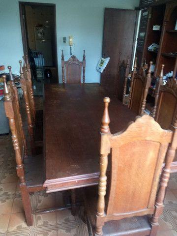 Cristaleira e mesa em madeira - Foto 5