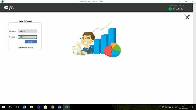 Planilha, Excel, Sistema, Financeiro TOP 2.0