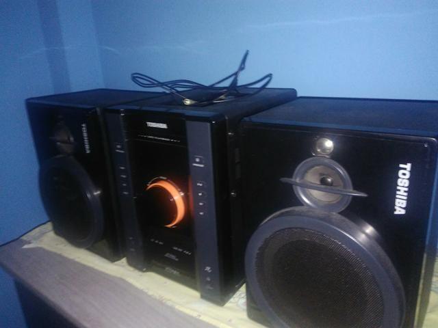 Som Toshiba hi-fi System está todo novo lindo