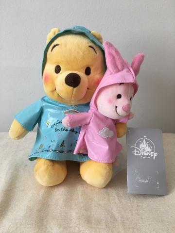 Bonecos de pelúcia Pooh e Leitão Disney Store Original e Novo