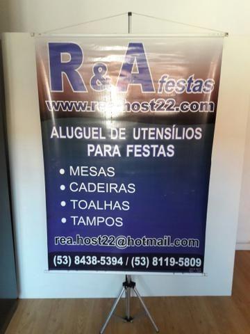 Aluguel de porta banner e cavaletes para quadros - Foto 2