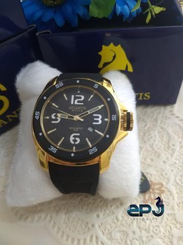 c46109672a0 Atlantis Black Style G3216 pulseira de couro (COM GARANTIA ...
