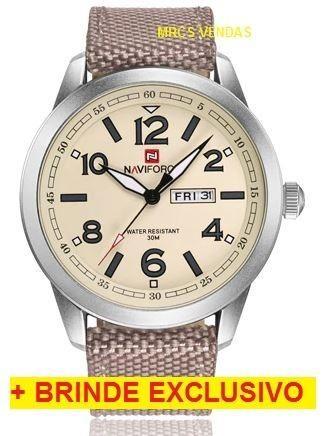 bc0f80e9a05 Relógio Naviforce Original Militar + brinde - mega promoção ...