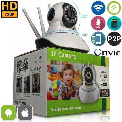 Camera Ip Hd Audio Bi-direcional Angulo HD 720P