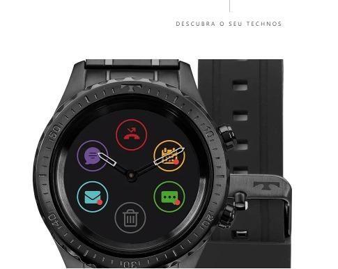 4c529381537a0 Relógio Technos Connect Duo Preto P01ab 4p (original- caixa lacrada) Aceito  Xbox one