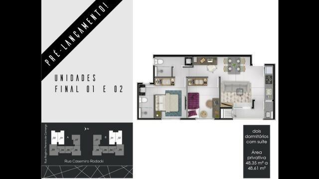 Apartamentos 2 Dormitórios 1 Suíte no Campo Comprido - Foto 2
