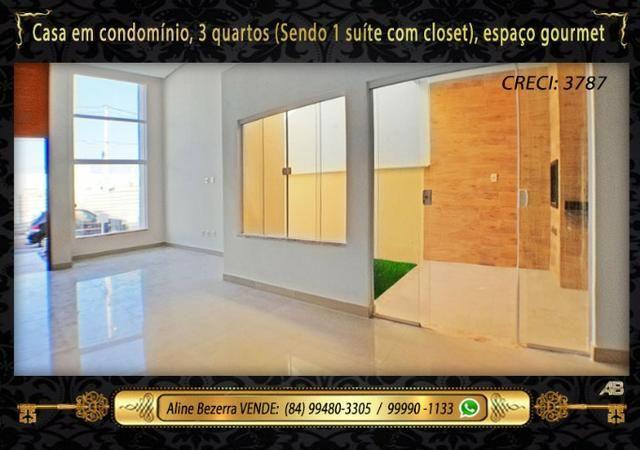 Casa no condomínio central park, suíte com closet, espaço gourmet, sombra confira - Foto 5