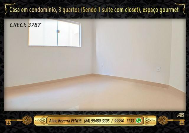 Casa no condomínio central park, suíte com closet, espaço gourmet, sombra confira - Foto 10