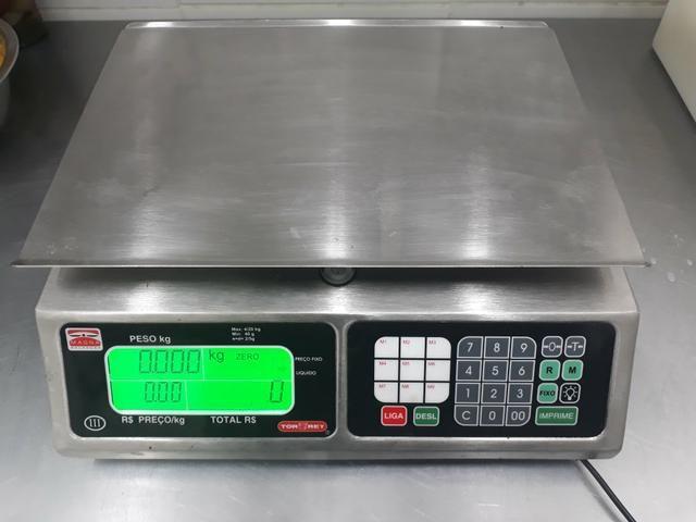 Balança Eletrônica 40kg Inox Magna Com Bateria 13360