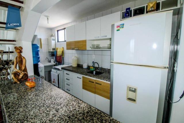 Apartamento Duplex com 5 dormitórios para alugar, 130 m² por R$ 4.500,00/mês - Mucuripe -  - Foto 14