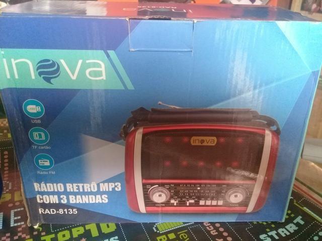 Radio inova am fm leitor pen drive e cartao - Foto 4