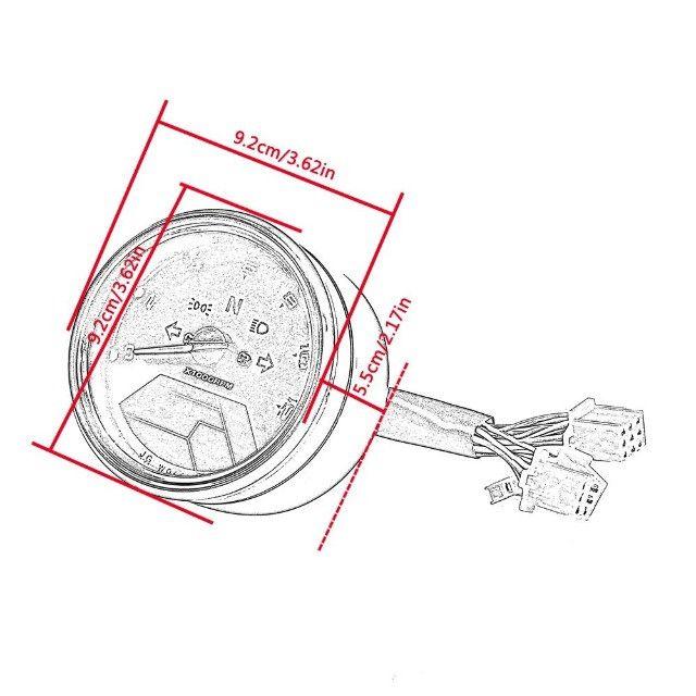 Painel universal chopper moto