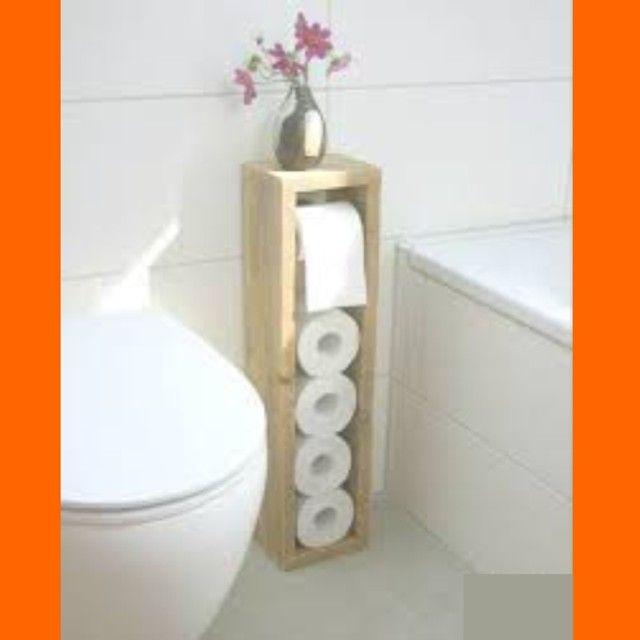 porta papel higiênico de madeira pinus