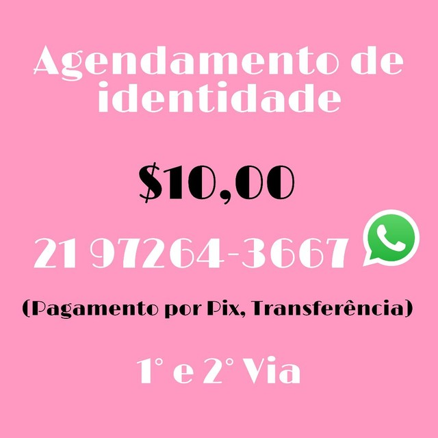 Agendamento de identidade 1° e 2° via