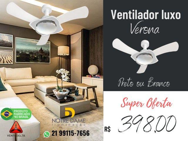 Ventilador de Teto Verona Luxo Preto ou Branco - Controle Remoto Opcional - Foto 2
